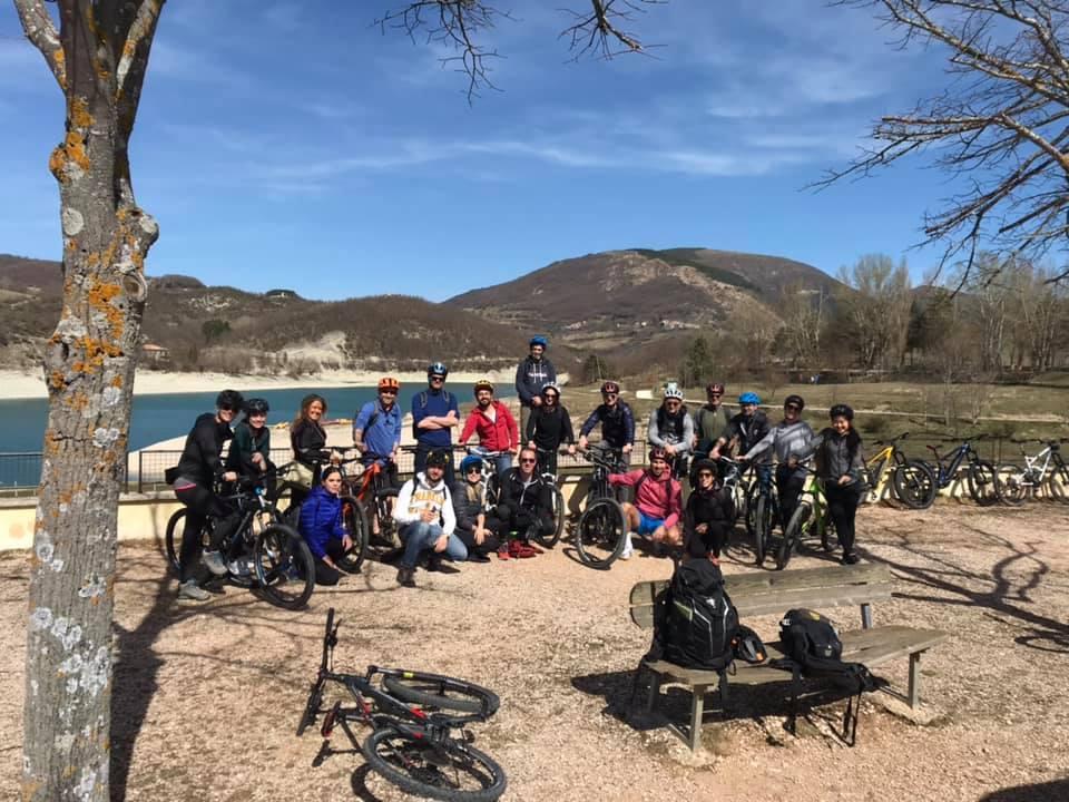 e-bike Lago di Fiastra Marzo 2019